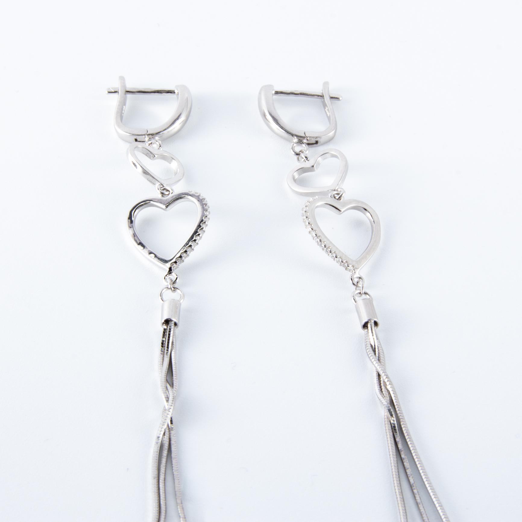 kiváló árak óriási kedvezmény olcsó ár Ezüst lógós fülbevaló - Merci Design
